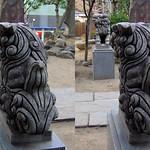 DSCF0934 浅草弁天堂の狛犬 komainu (parallel 3D) thumbnail