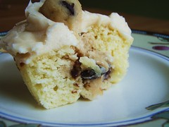 cookie dough filled cupcakes - 32