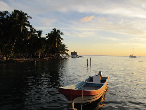 Sunset at Tobacco Caye