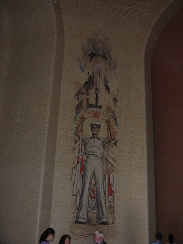 The Navy mosaic in the memorial