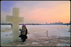 Ice cross. Ukraine, Kiev. Epiphany. (lights2008) Tags: winter sunset color ice beauty nikon ukraine tamron kiev  epiphany           icecross janyary   tamron175028   thesuperbmasterpiece