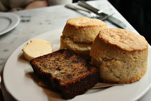 biscuits and banana bread