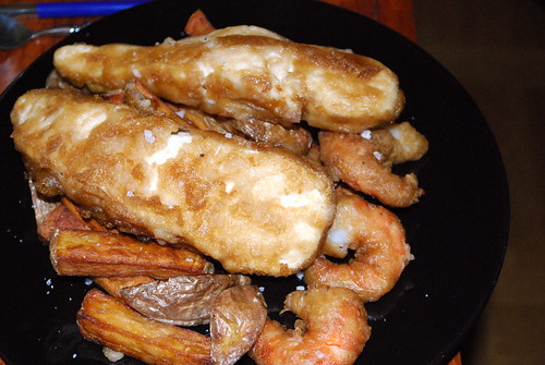 fish'n'chips + shrimps