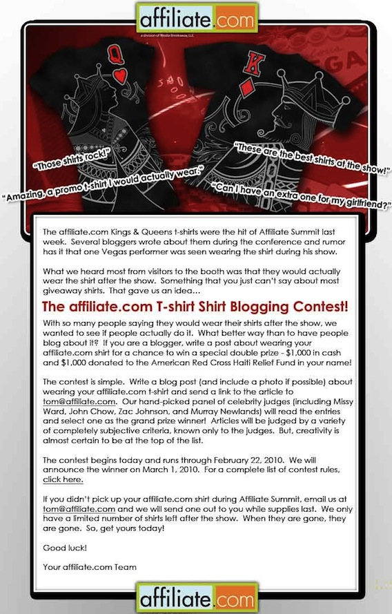 Affiliate.com Contest