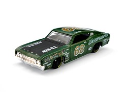 HotWheels - '69 Ford Torino Talladega (Leap Kye) Tags: black green ford 1969 car torino toy nice model treasure eagle automotive super rubber racing hotwheels 164 rare th goodyear matte sponsor hunt collector 2010 68 talladega 428 thunt armedclown309 talllala