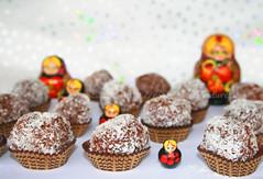 Tartufi al cioccolato con cocco biscotti secchi
