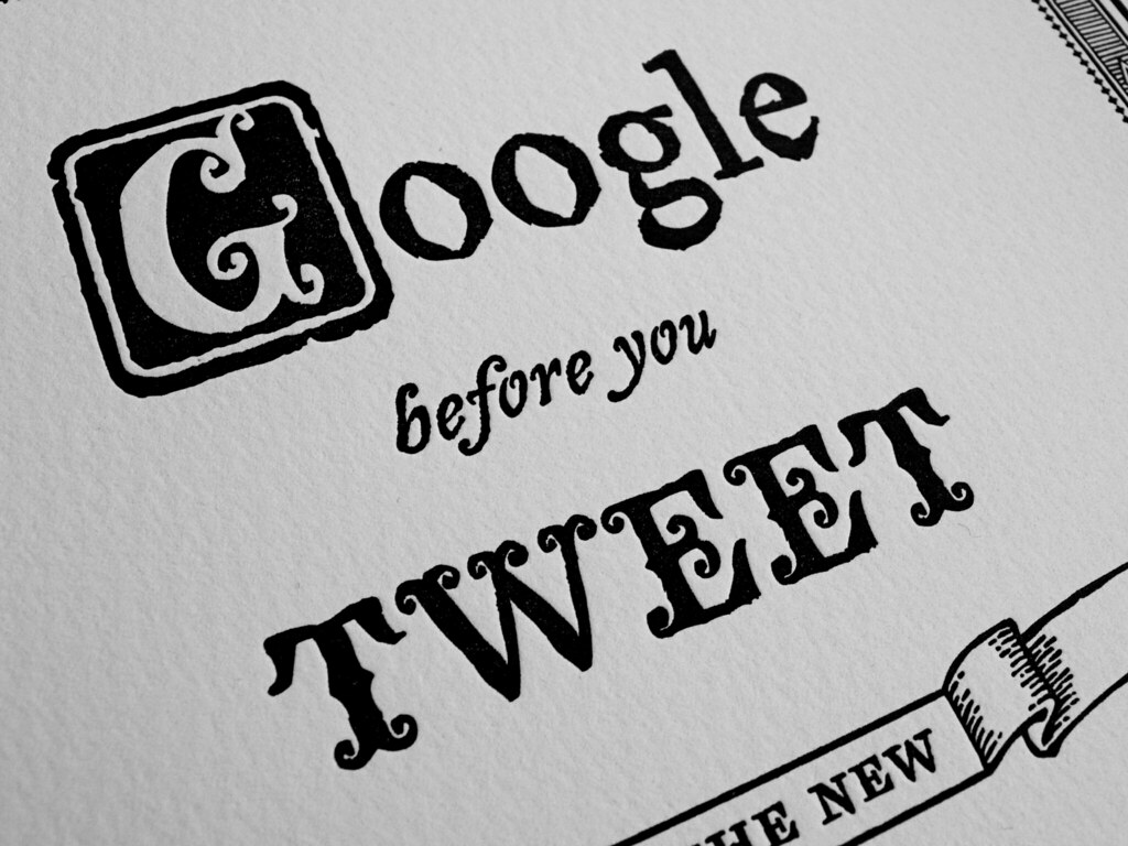 google before you tweet is the new think before you speak by @TheJoeNewton