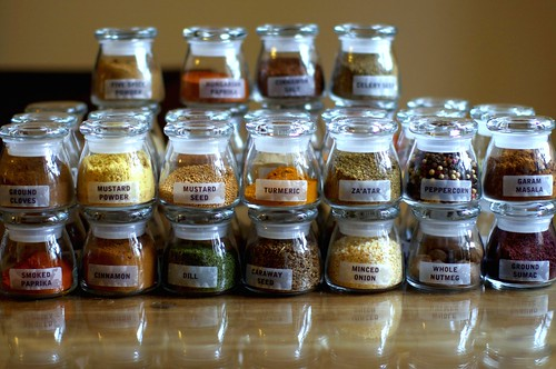 filename - Glass Spice Jars