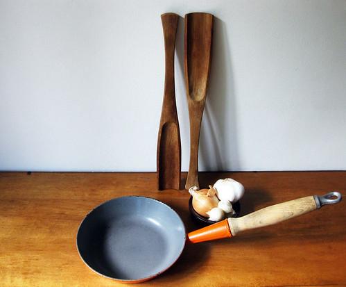 Vintage Le Creuset Wood Handled Pan