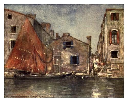 018- El velero naranja-Venice – 1904-Dorothy Menpes