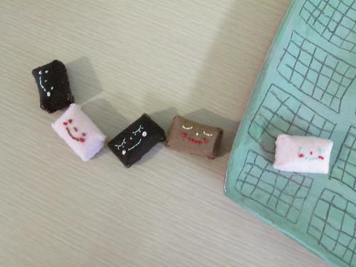Choco I sewed by hand.