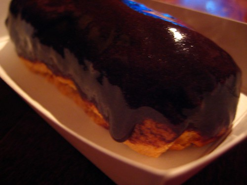 Cookie Eclair Dipped in Chocolate