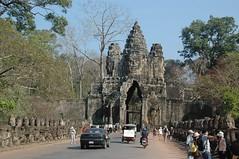 South Gate of Angkor Thom (becklectic) Tags: asia cambodia seasia angkor bodhisattva 2010 naga angkorthom southgate avalokiteshvara views100 bodhisattvaofcompassion worldtrekker 20100127dsc6995