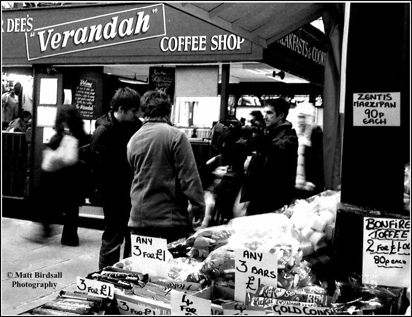 Camera crew in the Borough Market