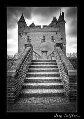 Doornenburg Castle (Joop Snijder) Tags: old travel blackandwhite holland tower castle history netherlands rock vertical stone architecture fairytale outdoors ancient europe fort steps thenetherlands nobody medieval fantasy fortification expensive boundary past majestic protection fortress luxury hdr westerneurope attraction frontview traditionalculture gelderland benelux northerneurope historicbuilding nobility traveldestinations famousplace doornenburg locallandmark buildingfeature buildingexterior surroundingwall stepsandstaircases dutchculture europeanculture castledoornenburg