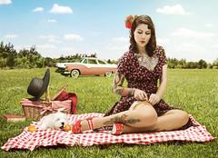 [フリー画像] [人物写真] [女性ポートレイト] [白人女性] [ドレス] [刺青/タトゥー]      [フリー素材]