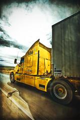 Truck (Stromboly) Tags: road sky texture yellow truck carretera wheels llantas camin