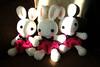 More miniskirts bunnies (Harugurumi) Tags: bunny toy doll crochet plush softies amigurumi miniskirt harugurumi