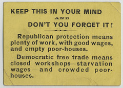 Republican Party Handbill, ca. 1880
