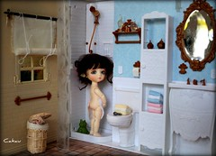 Thursday Diorama # 2 (Cakau ) Tags: yellow bathroom sheep lea bjd resin dollhouse lati cakau thursdaydiorama