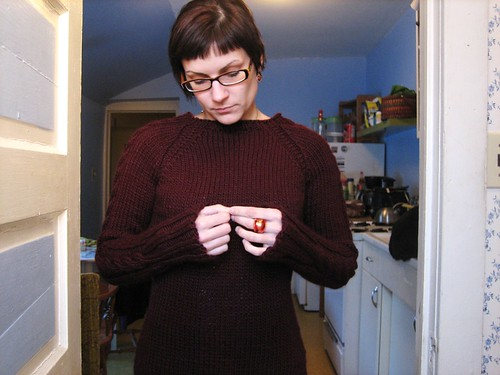 100218. get sick, knit a freaking sweater.