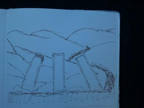 Hiraeth yr Awen 1 - design sketch
