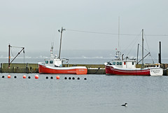 DGJ_4895 - Mill Cove (archer10 (Dennis) (66M Views)) Tags: red sunrise boat fishing nikon novascotia village military free dennis jarvis loon d300 iamcanadian 18200vr millcove 70300mmvr lighthouseroute dennisjarvis archer10 dennisgjarvis