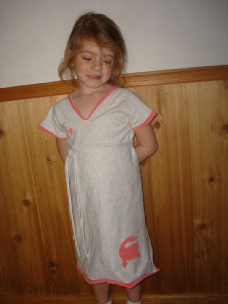 Recycled Tee Dino dress