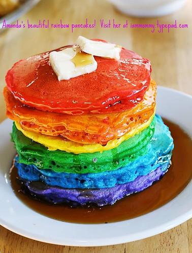 Amanda's Rainbow Pancakes