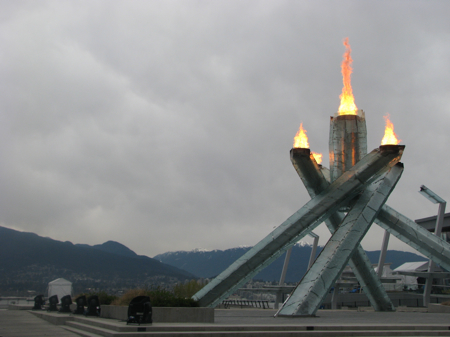 Olympic Flame in Vancouver, BC