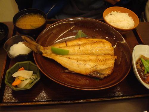 碳烤花魚定食