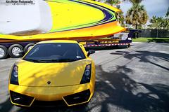 Lamborghini (Alex Weber) Tags: beach alex speed photography boat miami south spot exotic expensive lamborghini rare coupe find supercar weber gallardo modded combo lambo superleggera