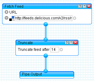Yahoo! Pipes - feed proxying via truncate