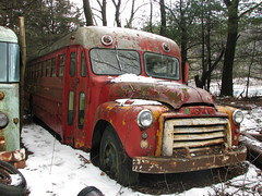 AN OLD GMC BUS IN FEB 2010 (richie 59) Tags: trees winter snow abandoned overgrown truck outside junk rust gm country rusty headlights upstateny grill rusted upstatenewyork drives trucks newyorkstate headlight catskills oldtruck backroads gmc obsolete gmctrucks 2010 catskill nystate gmctruck rustytruck frontend generalmotors hudsonvalley grills redtruck oldbus motorvehicles junktruck oldtrucks rustyoldtruck oldbuses americantruck twolane greencounty abandonedtruck rustyoldtrucks rustytrucks gmtrucks gmtruck redtrucks ustrucks catskillny ustruck oldrustytruck junktrucks abandonedtrucks oldgmctruck advancedesign 1950struck greencountyny 1950strucks oldrustytrucks richie59 feb2010 oldgmctrucks feb282010 townofcatskillny rustygmc