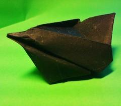 Beth's bird (origamiPete) Tags: black bird art paper origami elizabeth little johnson peter pete petr paperfolding papiroflexia folding beths blacbird stuchly stuchlý origamipete