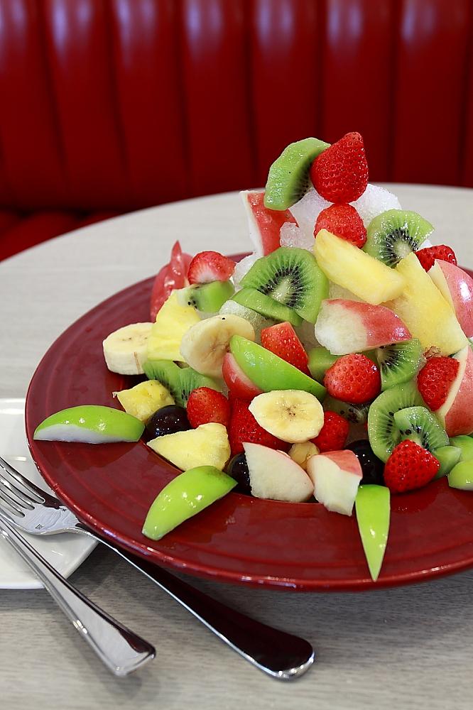 真材實料的水果冰