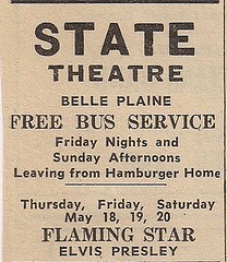 05/61 Elvis Flaming Star (State Theatre, Belle Plaine, MN)