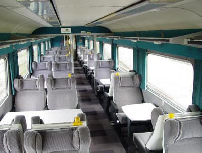 Carriage of charter train (UK) - First class, internal