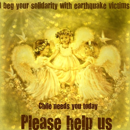 Dear friend, I beg your solidarity with earthquake victims in Chile