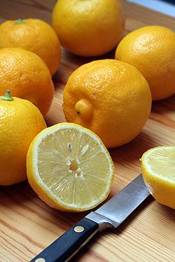 halved bergamots