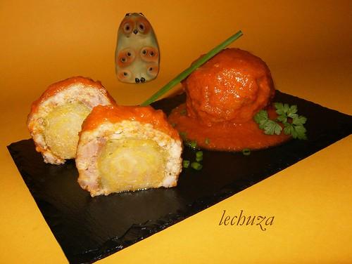 Albóndigas de coles-plato