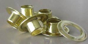 C.S. Osborne Brass Sheet Metal Grommets & Washers 1/4