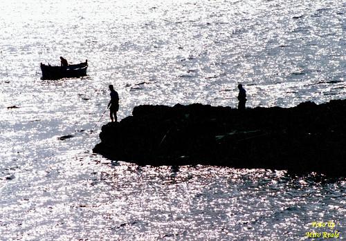 Pesca in controluce