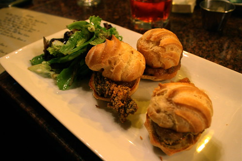 Gougeres with Crispy Duck Liver