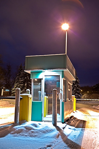 Late Night on Campus - Parking Hut