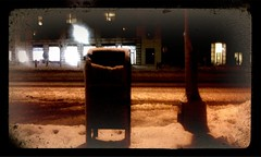 . (Aint No Joke) Tags: street snow night mailbox newjersey jerseycity mail nj jc iphone