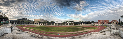 Stadio dei Marmi. Rome, Italy. Panoramic HDR