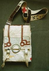Aleph (B a s t i a n o) Tags: leather vintage bag recycled handmade sewing canvas stitching etsy dye handicrafts shoulderbag