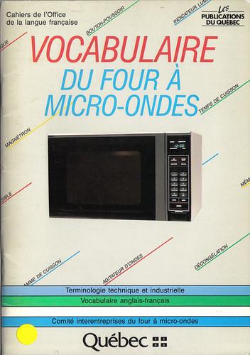 Vocabulaire du four a micro-ondes