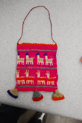 Rehousing: Peruvian knitted bag